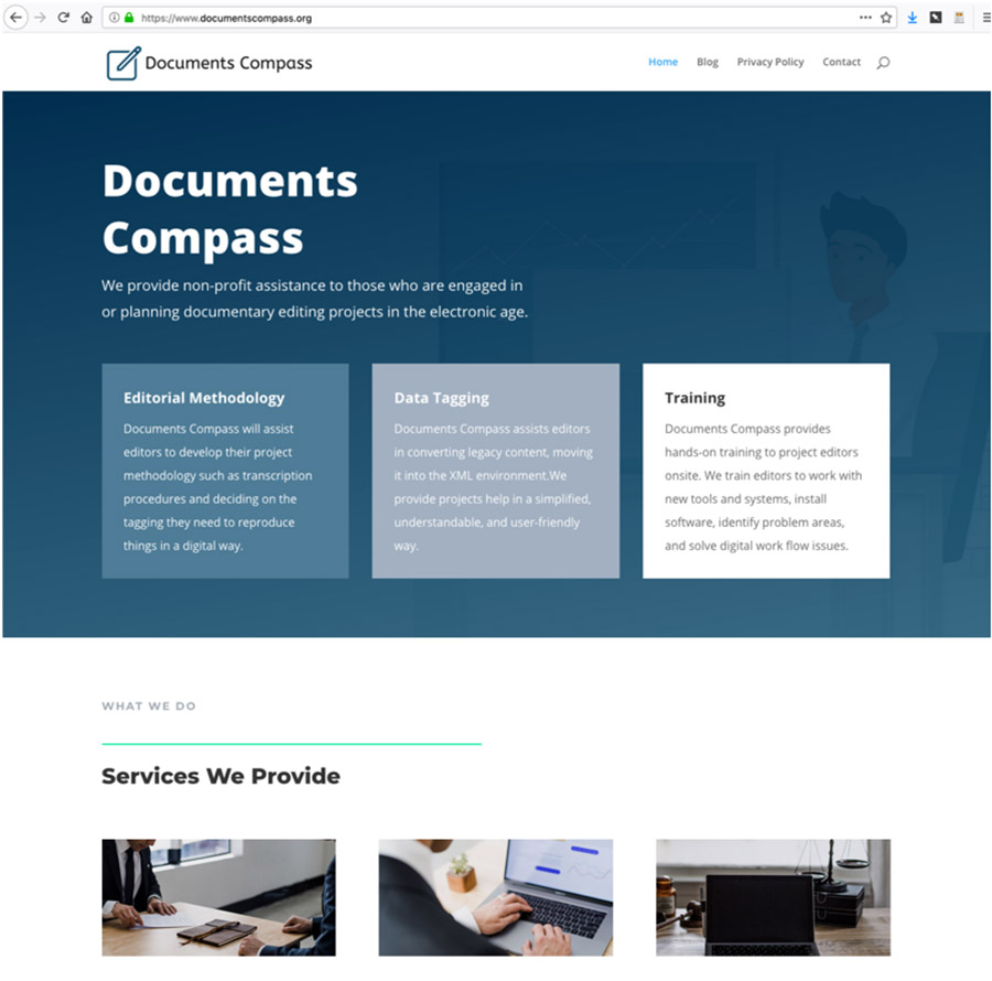 Documents Compass, newer-looking website