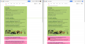 "Google search results for ""gun control"": me vs. conservative older man"