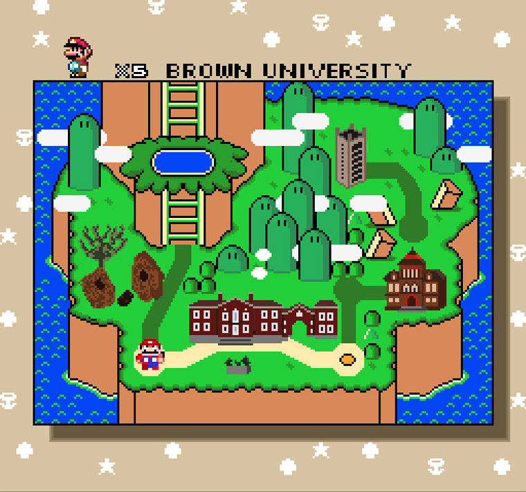 Super Mario version of Brown University map
