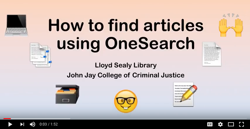 How to find articles screenshot