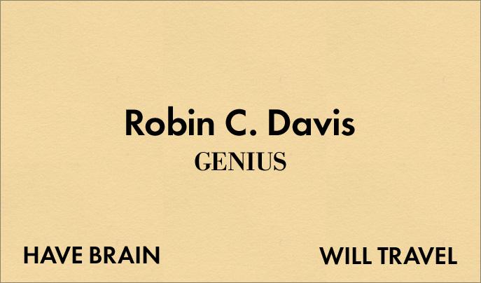 My new business card robin camille davis my new business card colourmoves