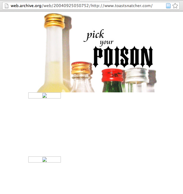 Homepage of Toastsnatcher - Pick your poison