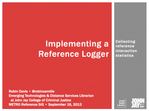 Implementing a reference logger
