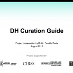 DH Curation Guide slide