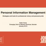 Personal Information Management slide