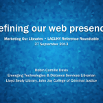 Refining our library's web presence - slide