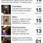 Day One timeline screenshot