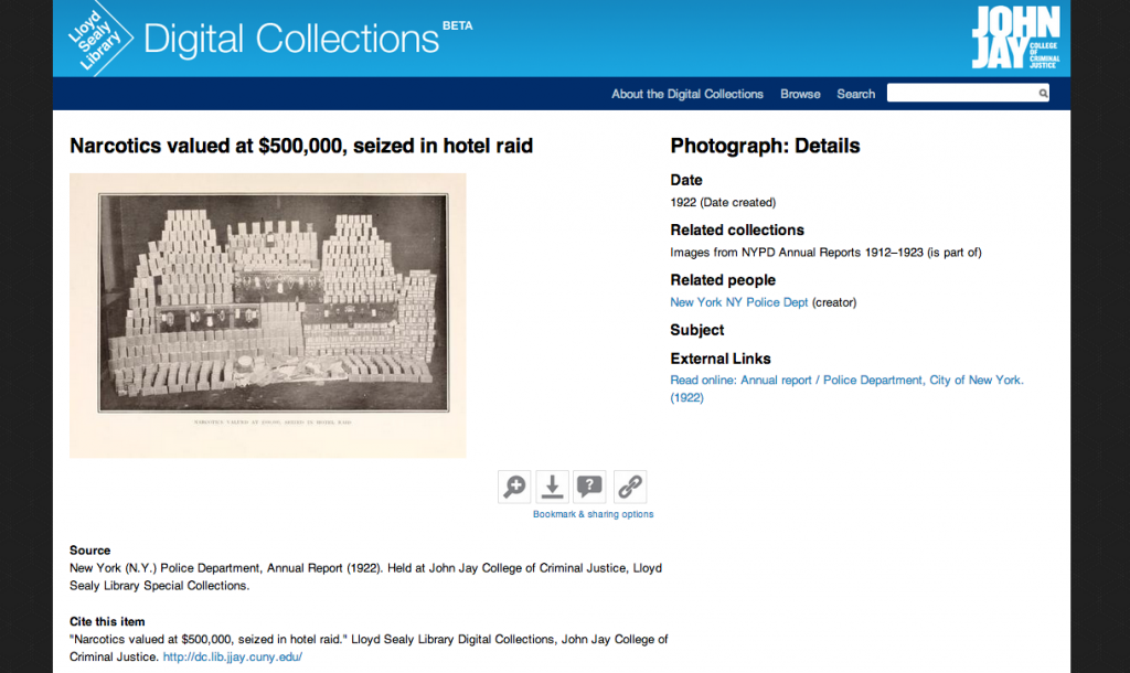 Digital Collections item page