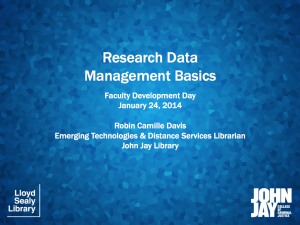 Research Data Management presentation