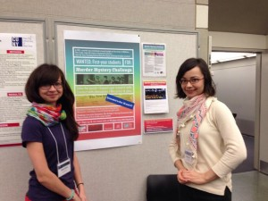 Our non-traditional, super-fun poster setup. Left: me; right: Marta Bladek