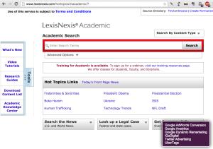 LexisNexis ad trackers?
