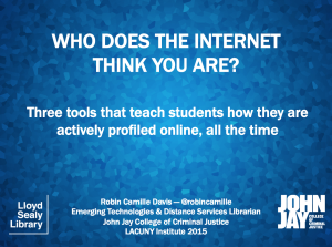 LACUNY 2015: who does the internet think you are?