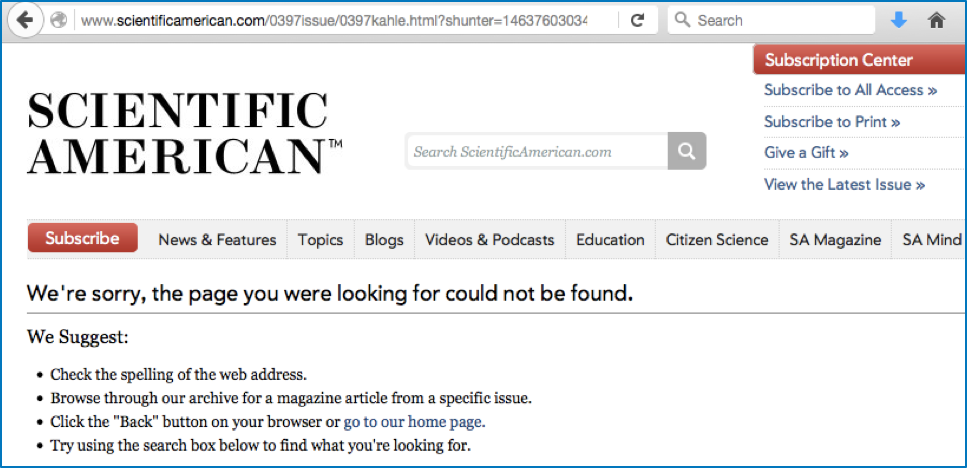 Page not found - Scientific American